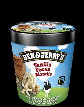 Ben & Jerry's Classic ijs Vanilla Pecan Blondie 500ml.