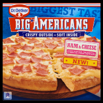 Dr.Oetker Big Americans pizza ham & cheese