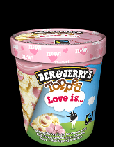 Ben & Jerry's Topped ijs Love Is... 470ml.